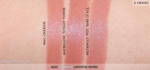 mac cherish lipstick dupes