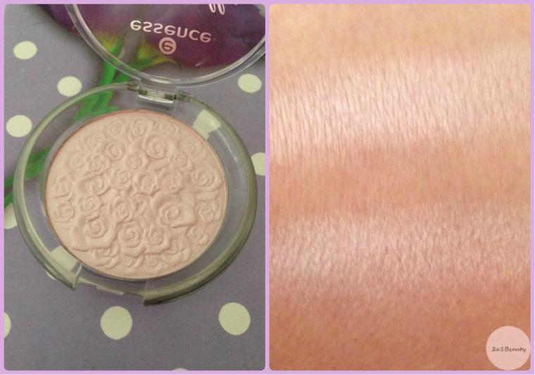 Swatchevi : Gore -  MUA Undress Your Skin Highlighter. Dolje_Essence Cinderella
